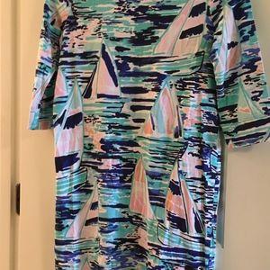 Sailboat 3 quarter sleeve Lilly pulitzer dress